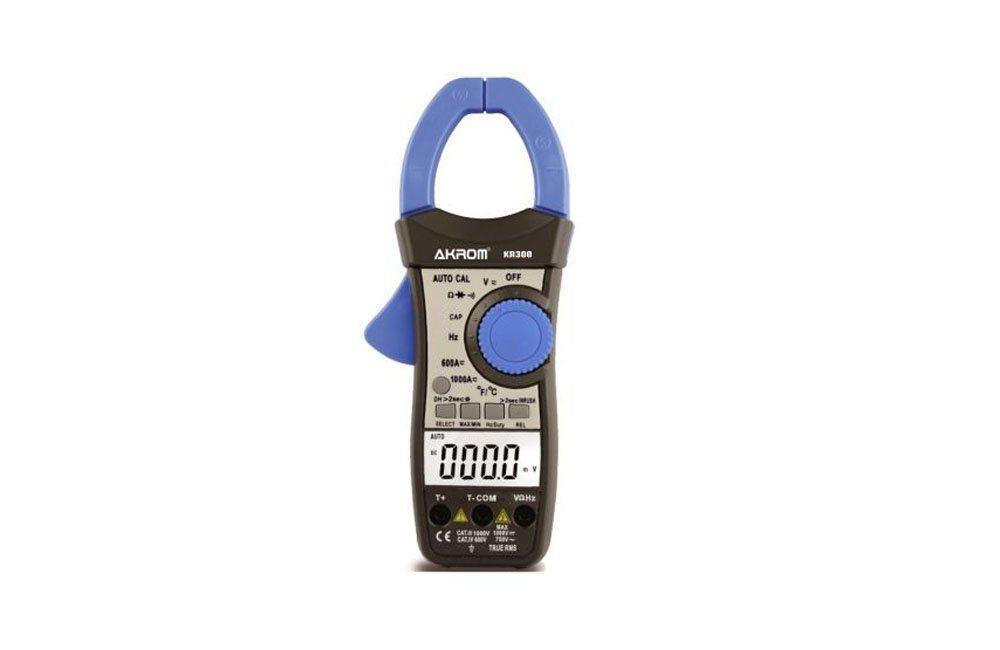 Alicate Amperímetro Digital 1000V AC/DC/TRMS AKROM KR300 - Incoterm