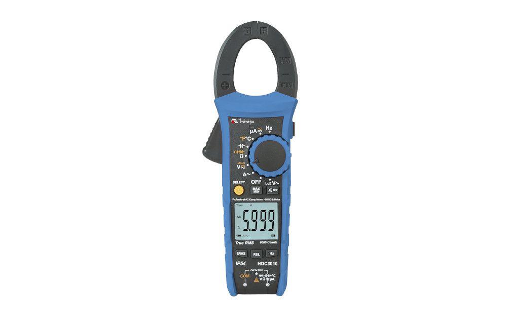 Alicate Amperímetro Digital AC 600V TRMS Linha Industrial HDC3010 - Minipa