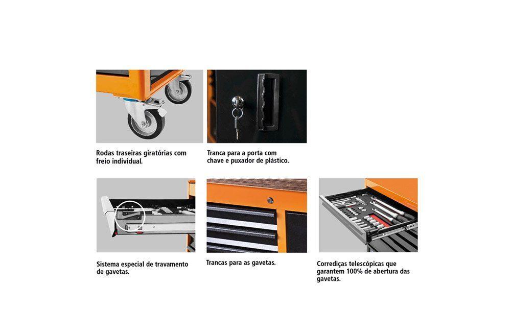 Bancada Móvel com 6 Gavetas e 1 Porta  44959/001 - Tramontina