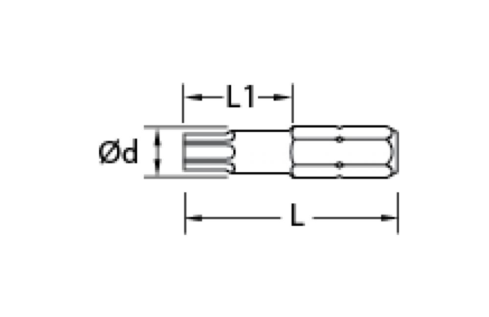 Bits Torx com Perfil Hexalobular 1/4'' 687R25-T20 - GEDORE
