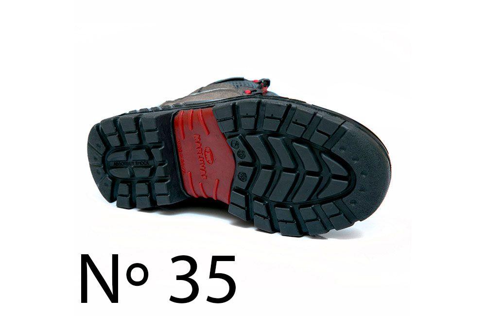 Bota de Segurança de Microfibra N35 Marluvas Premier 75BPR29 Cinza