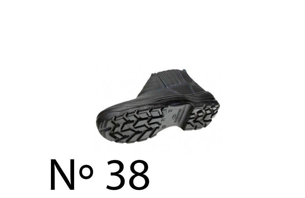 Botina com Solado de PU com Bico de Plástico N38 Marluvas 90B19-BP