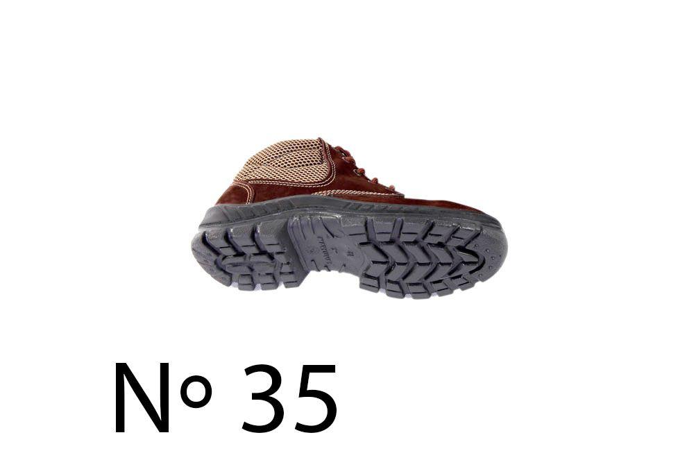 Botina Nobuck com Bico de Plástico N35 Marluvas 50B26-CB-BP