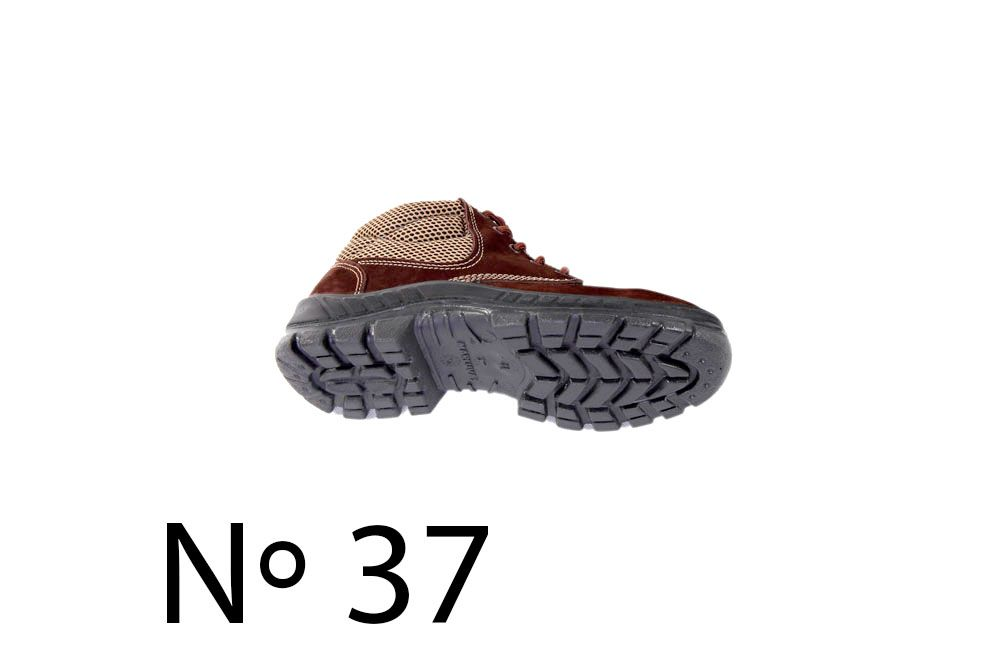 Botina Nobuck com Bico de Plástico N37 Marluvas 50B26-CB-BP
