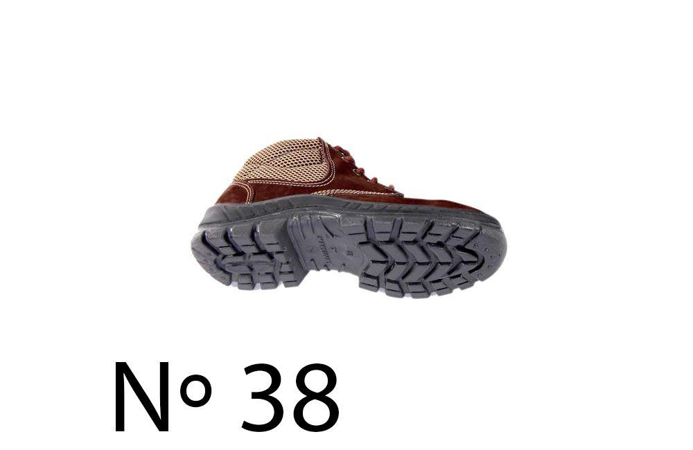 Botina Nobuck com Bico de Plástico N38 Marluvas 50B26-CB-BP