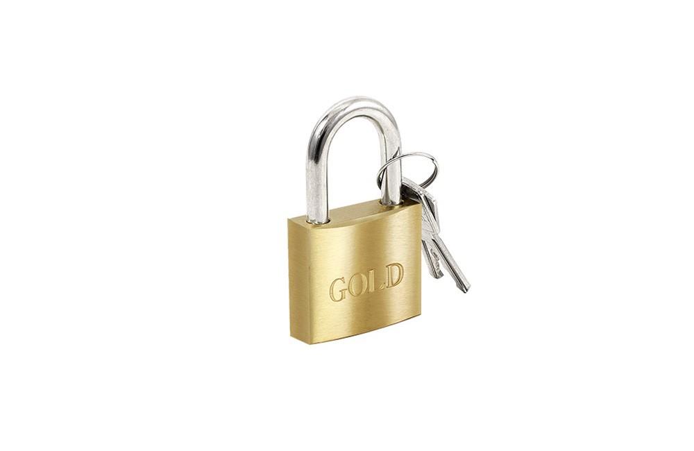 Cadeado de Latão 35 mm G35 - Gold