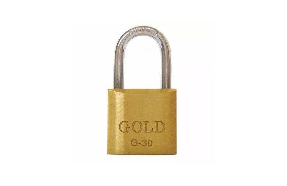Cadeado Latão 30mm G30 - Gold