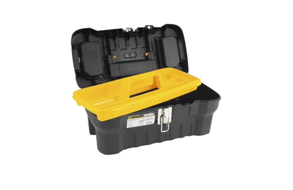 Caixa Plástica com 1 Bandeja 415 x 210 x 175 mm CPV407 - Vonder