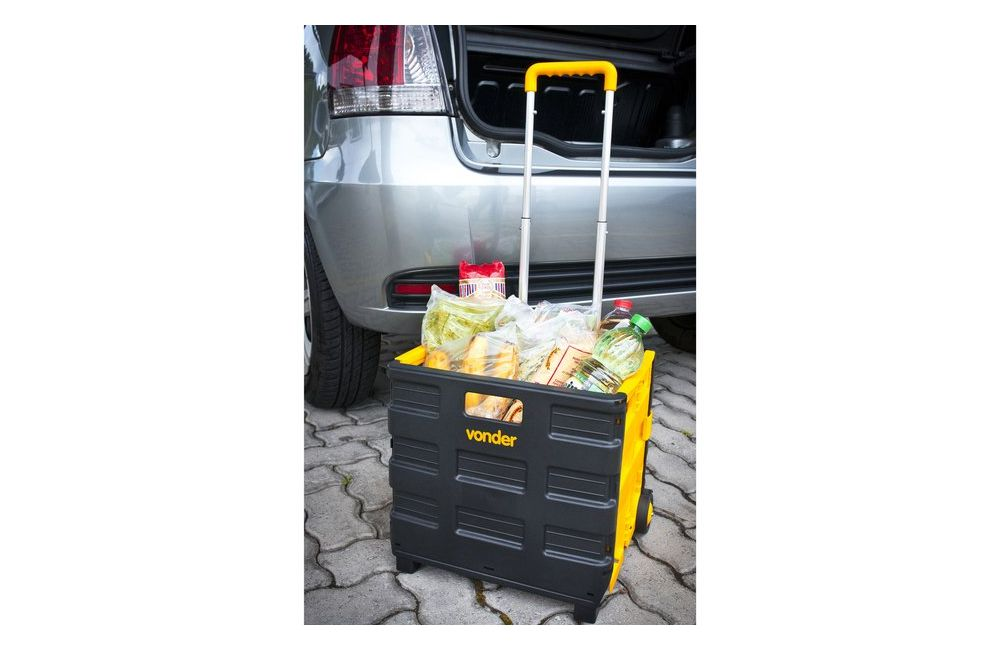 Caixa Plástica Desmontável com Roda para Até 20Kg - Vonder