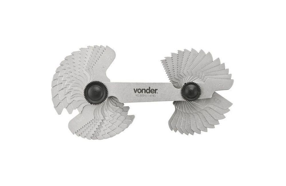 Calibre de Rosca com 52 Lâminas de 0,25 a 6 CR-052 - Vonder
