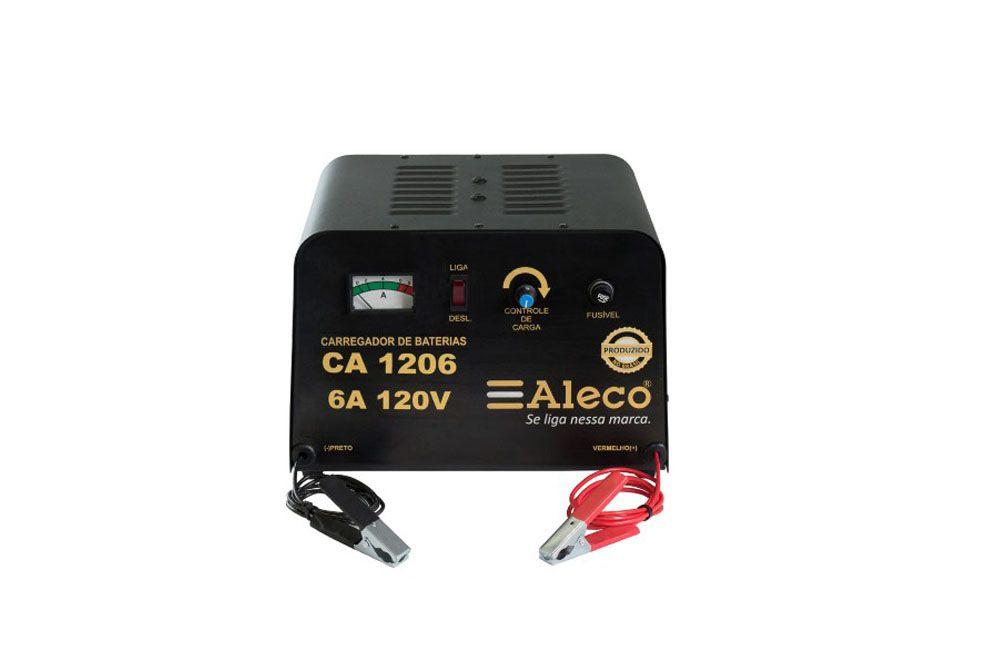 Carregador de Bateria 6A 120V para 10 Baterias em Serie CA1206
