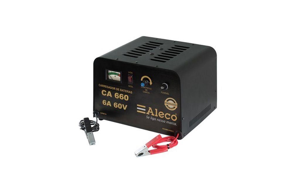 Carregador de Bateria 6A/60V - CA-660 - Aleco