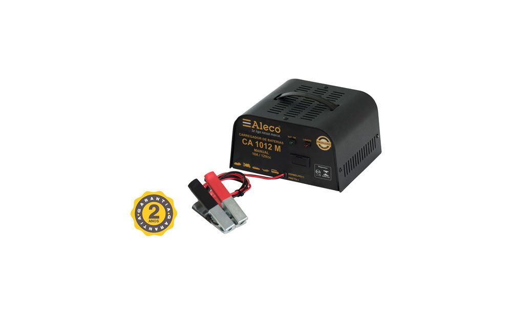 Carregador de Bateria Manual 10A 12V CA1012M Alleco