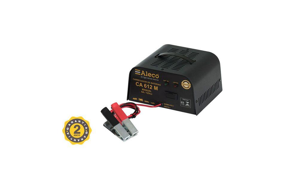 Carregador de Bateria Manual de 6 a 12V Alleco CA612M