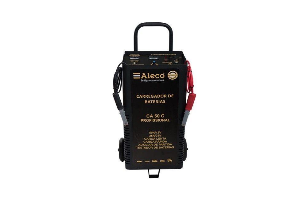 Carregador de Baterias 50A/12V/24V Manual CA50C - ALECO