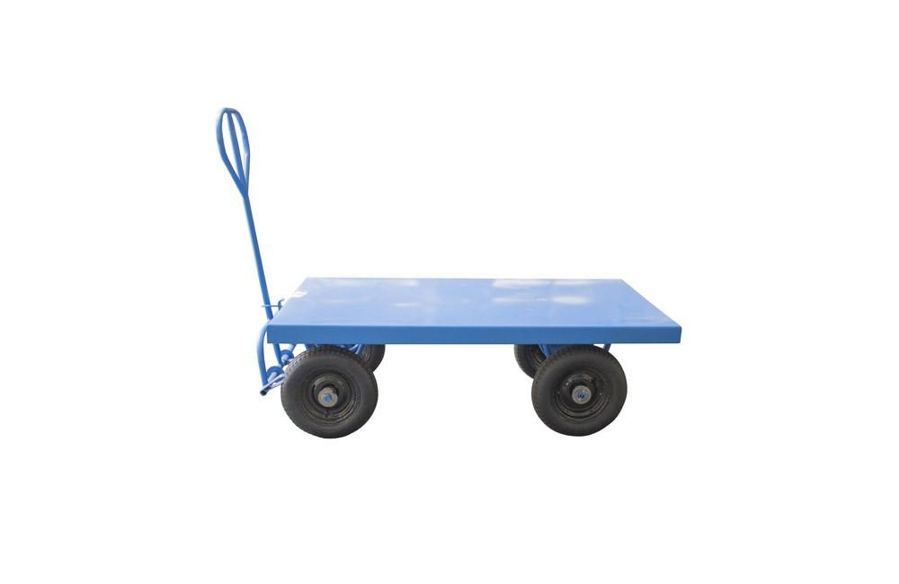 Carro Plataforma de Aço para 450 kgs com Pneu de Câmara C128D - Unicar