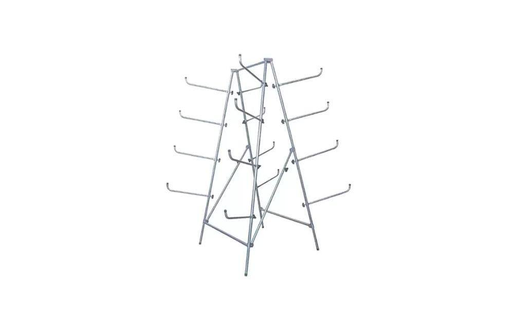 Cavalete Porta Para Choques Dobrável com 8 Lugares PP-04 - LG Equipamentos