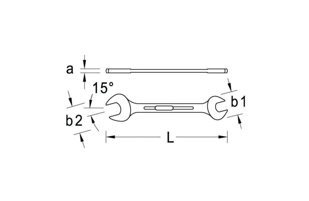 Chave de Boca/Fixa 19/32 X 11/16 6E - GEDORE