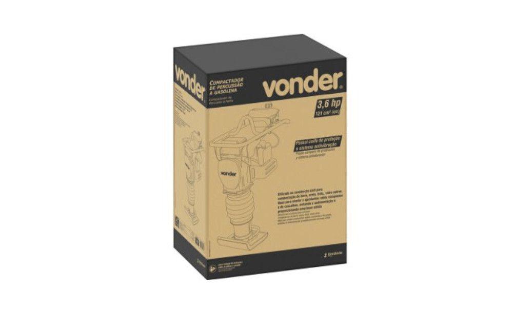 Compactador de Solo Percussão 3,6HP 4 Tempos Gasolina - Vonder