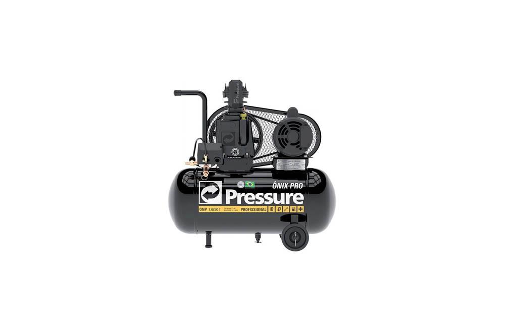 Compressor de Ar 1 HP ONIX 7,6 / 50 litros 120 Lbs Monofásico - Pressure