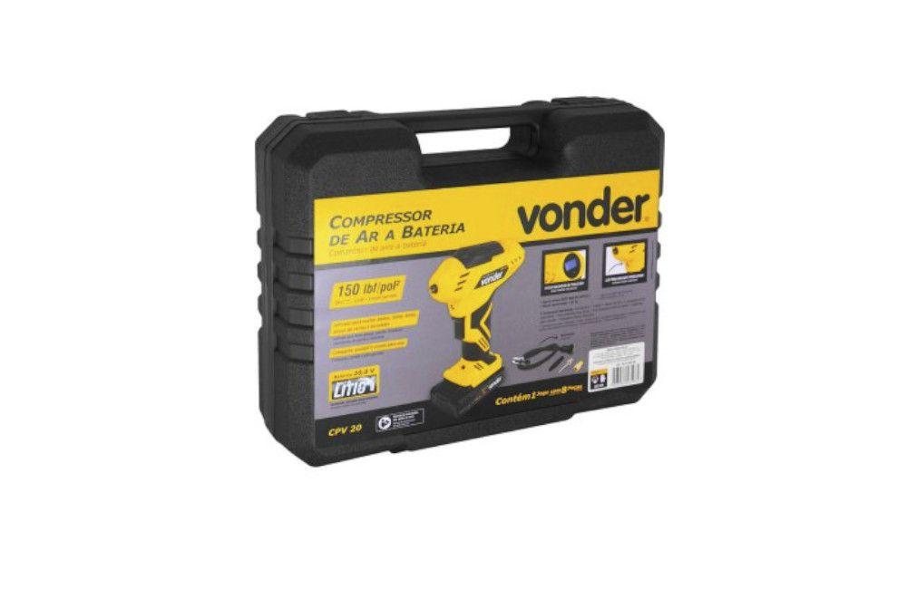 Compressor de Ar à Bateria 20V Bivolt CPV20 - Vonder
