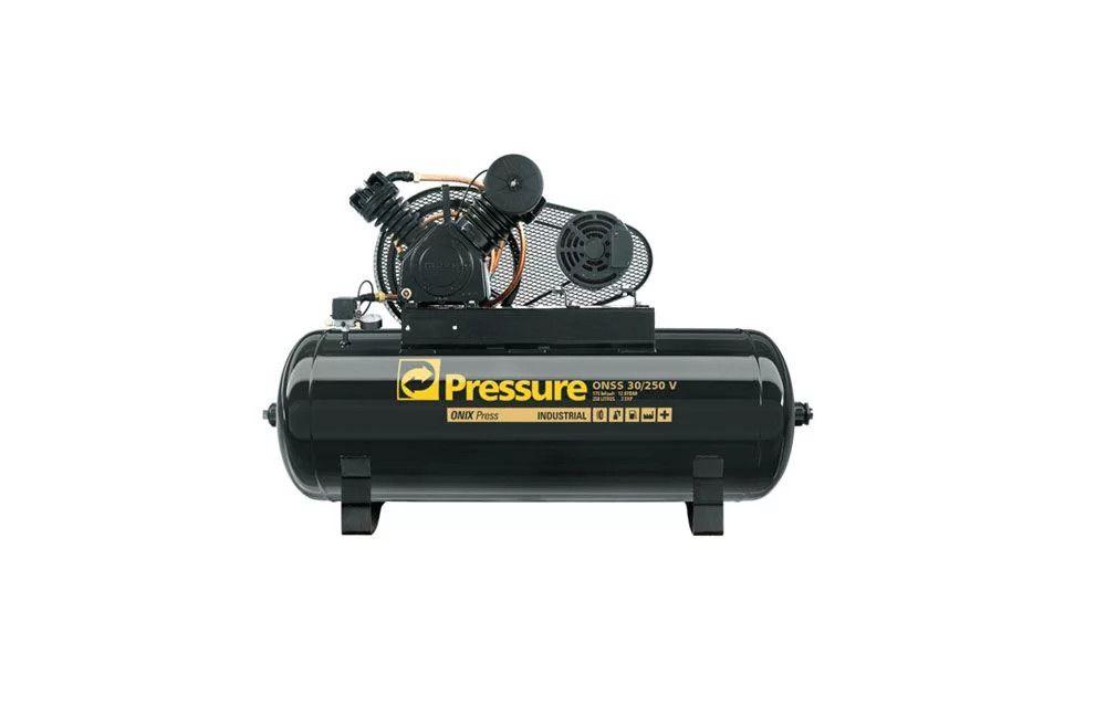 Compressor de Ar Onix 30 Pés 250 Litros 175 Lbs Trifásico - Pressure