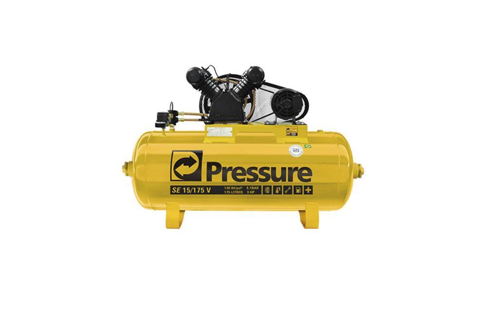 Compressor Monofásico SE15 Pés / 175 Litros 140 LBS Pressure