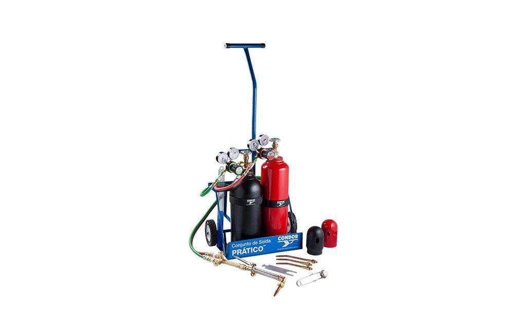 Conjunto de Solda Oxi/Acetilênio Prático Vazio - Condor