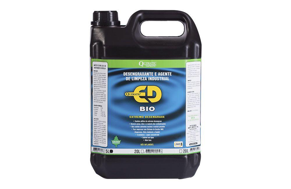 Desengraxante Industrial biodegradável Quimatic ED BIO 5LT - QUIMATIC TAPMATIC