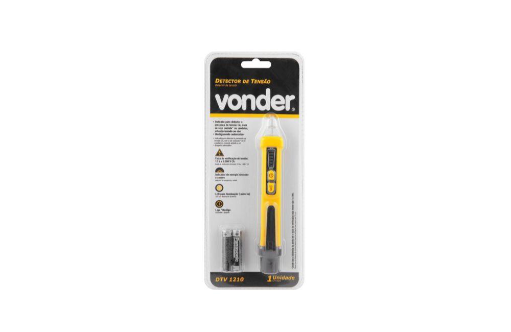Detector de Tensão CA Sonoro e Luminoso DTV-1210 - Vonder