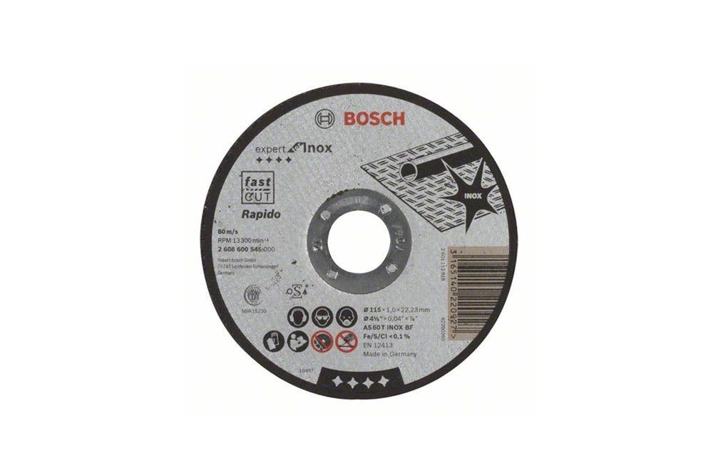 Disco de Corte Direito Inox 115X1,0 A60 2608600545 - Bosch