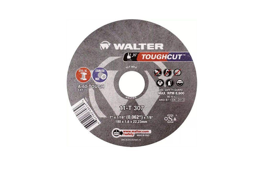 """Disco de Corte Inox 7"""" X 1/16"""" X 7/8"""" Toughcut 11T307 - Walter"""