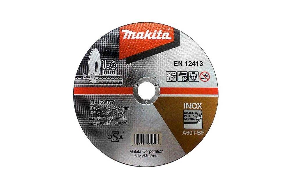 Disco de Corte para Inox 180X1,6x7/8 B-12267 - Makita