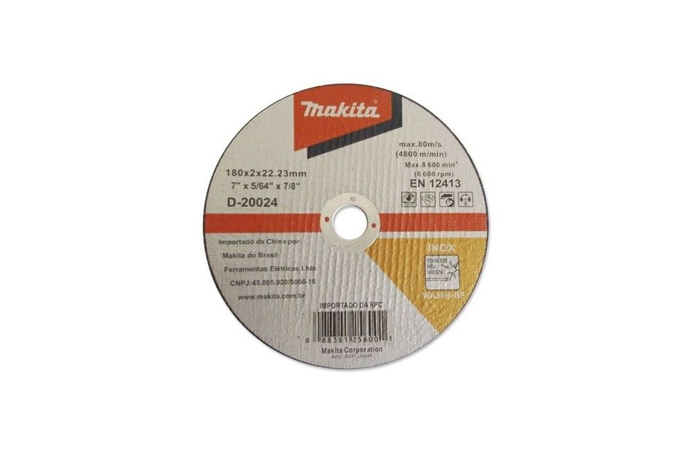 "Disco de Corte para Inox 7""X5/64X7/8 D20024 - Makita"