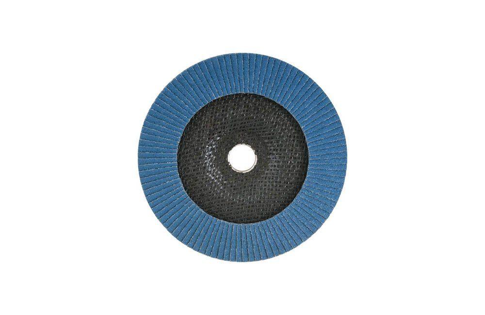 """Disco de desbaste/acabamento flap disc cônico 7"""" grão 40 costado de fibra -  Vonder"""