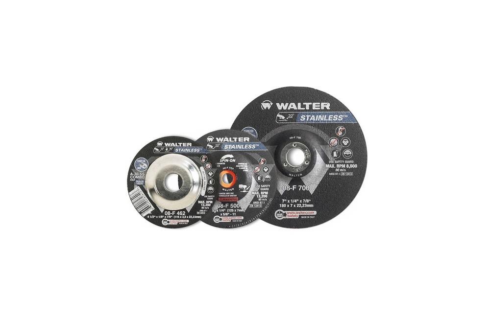 """Disco de Desbaste para Inox de 4.1/2 x 1/4 x 7/8"""" 08F460 - Walter"""