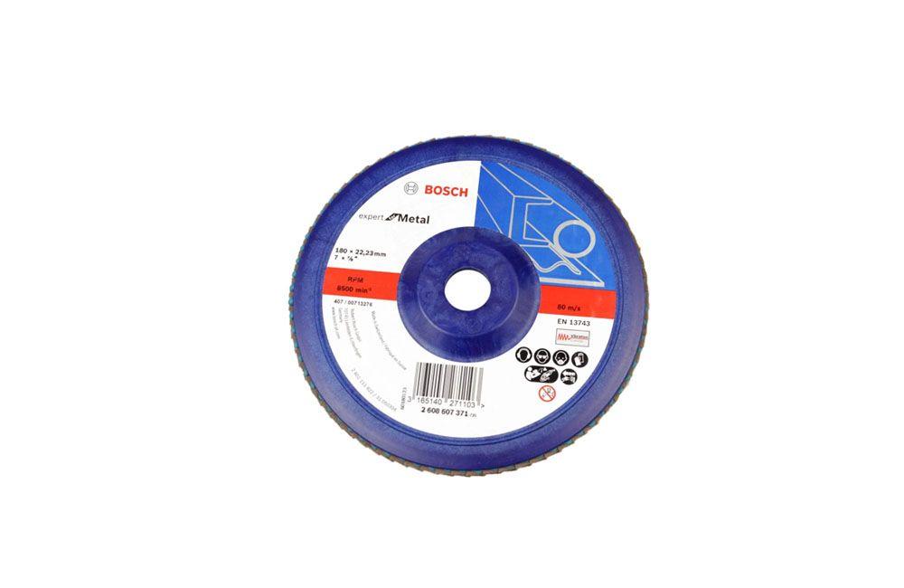 """Disco de Lixa Flap Reto Plástico 7"""" Grão 80 - Bosch"""