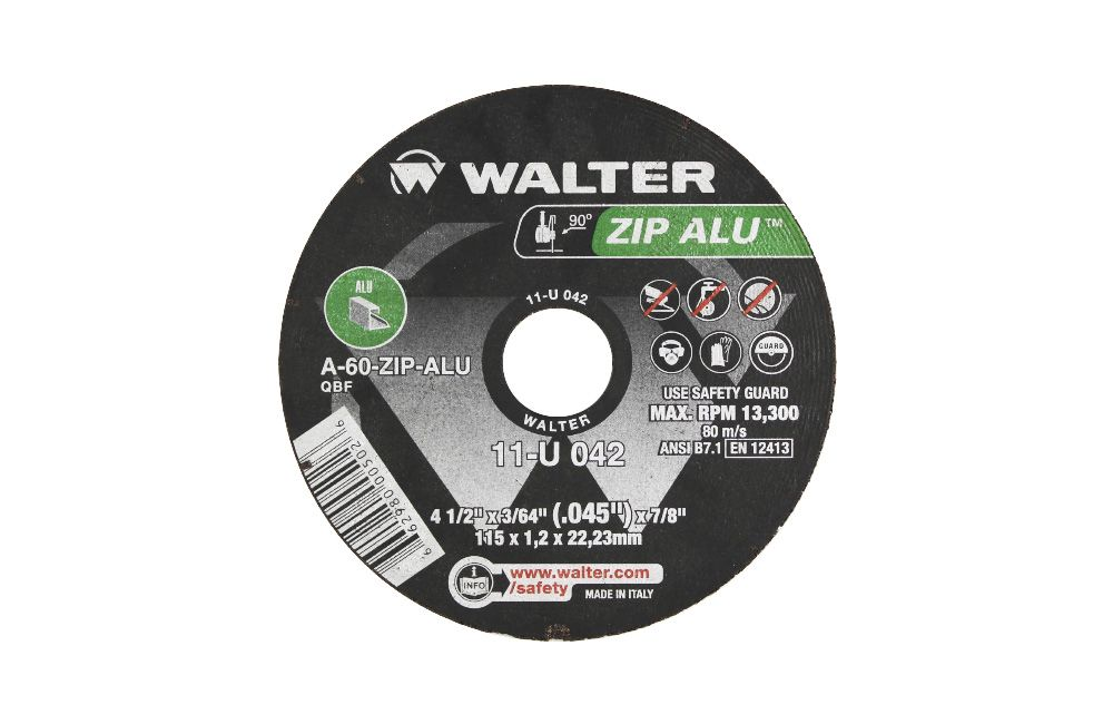 "Disco para Corte de Alumínio 4.1/2"" x 3/64"" / 115 x 1,2 x 22,23 mm 11U042"
