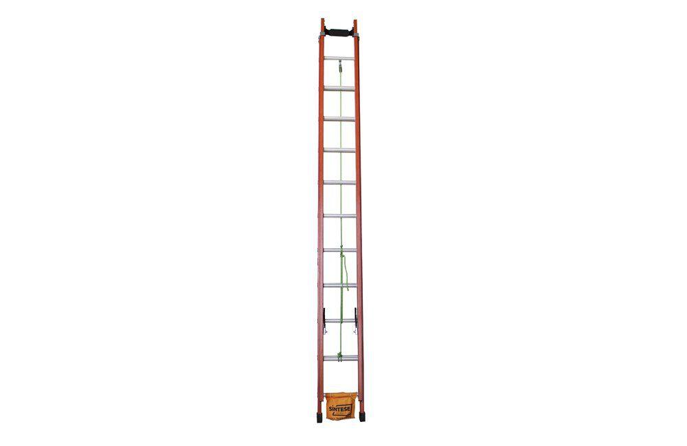 Escada de Alumínio/Fibra Extensiva com Degrau Vazado de 3,60 x 6,00 EAFV-19 - Sintese