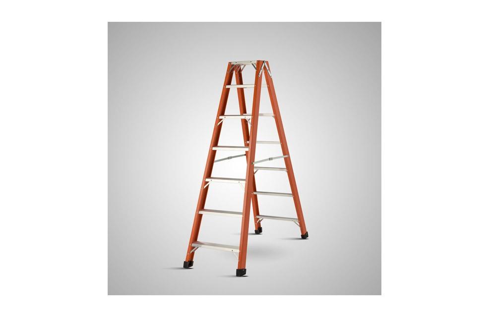 Escada de Fibra de Vidro de Abrir tipo Tesoura de 16 Degraus e 4,81 metros TAF-17 - Sintese