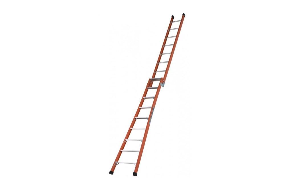 Escada de Fibra de Vidro de Abrir tipo Tesoura Extensível de 8 ou 16 Degraus TSAF-08/16 - Sintese