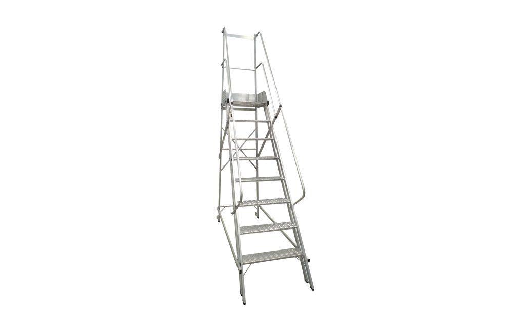 Escada Trepadeira NR-200 7 Degraus + Plataforma NR12 - Zarges