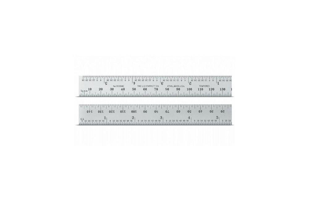Escala de Aço de Precisão 300 mm C636-300 - Starrett