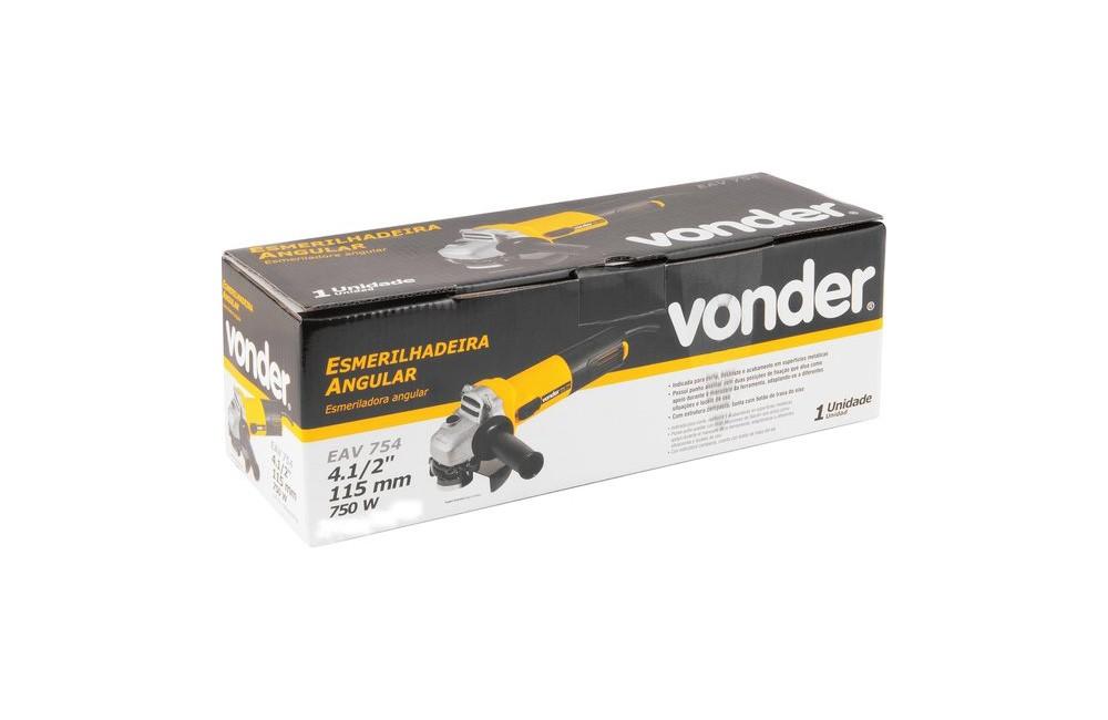 """Esmerilhadeira 4.1/2"""" 750W 220V EAV-754 - VONDER"""