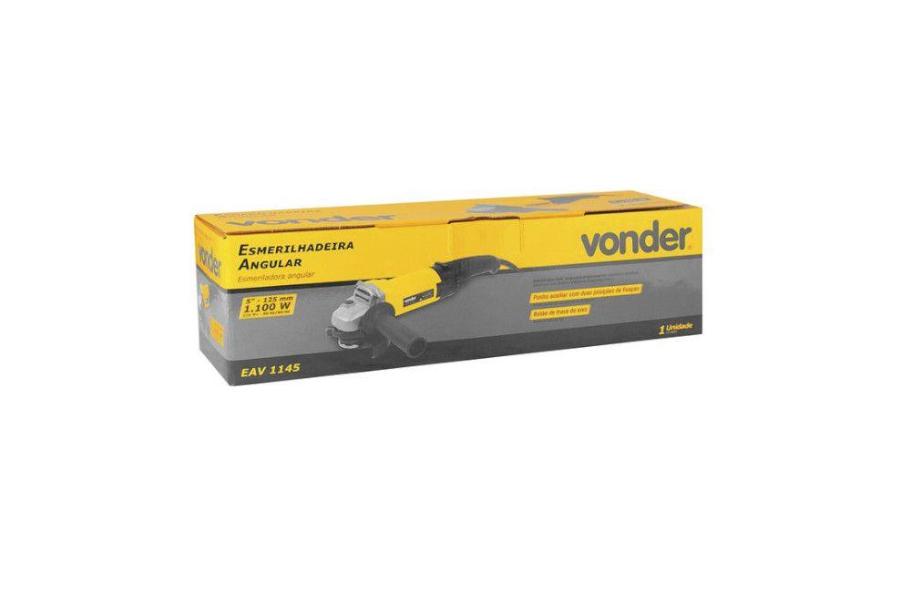 """Esmerilhadeira Angular 5"""" 1100W 110V EAV-1145 - Vonder"""