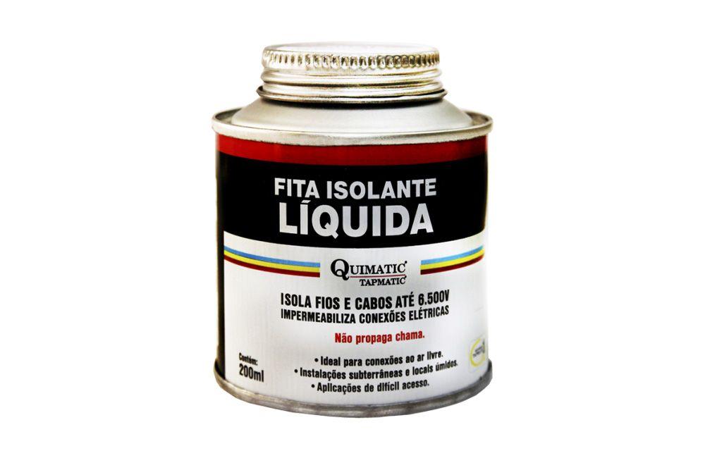 Fita Isolante Líquida 200 ml Preta