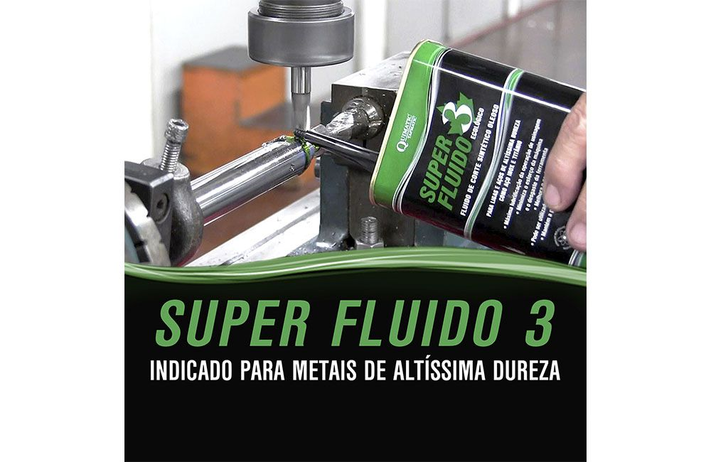 Fluído para Corte de Metais Duros - QUIMATIC 3 SUPER FLUIDO - 500 ml - QUIMATIC TAPMATIC