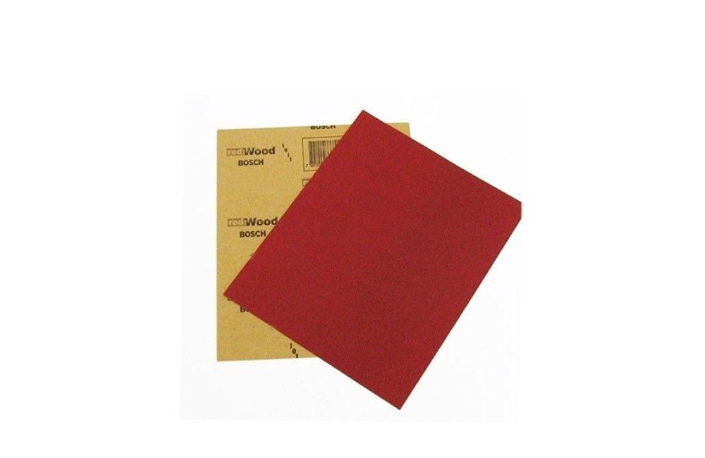 Folha de Lixa para Madeira de 225 x 275 mm Grão 100 Red Wood - Bosch