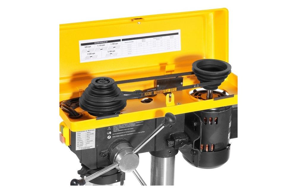 Furadeira de Bancada com Motor e com Mandril de 5/8-16mm 1/2CV 110V FBV-016 - VONDER