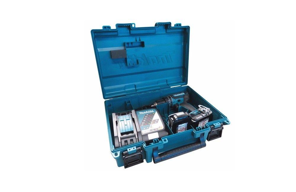 "Furadeira e Parafusadeira de 1/2"" de Impacto a Bateria de 18V Lítio Bivolt DHP482RAE - Makita"